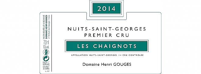 Nuits-St-Georges 1er cru Chaignots 2014