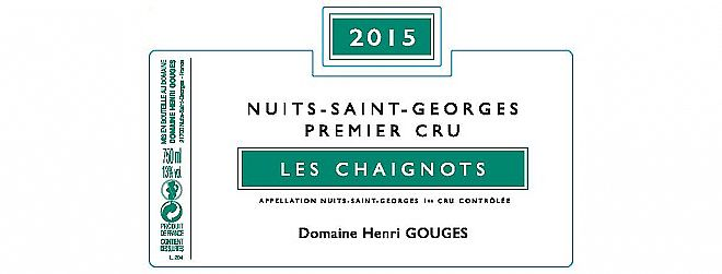 Nuits-St-Georges 1er cru Chaignots 2015