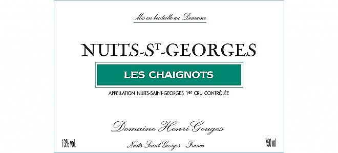Nuits-St-Georges 1er cru Chaignots 2013
