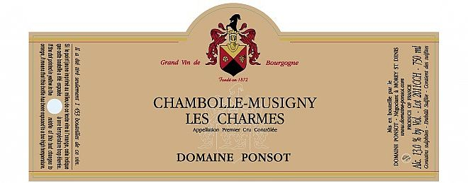 Chambolle-Musigny 1er cru Charmes 2014