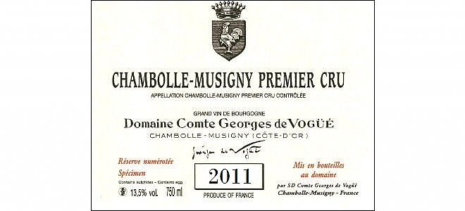 Chambolle-Musigny 1er cru 2011