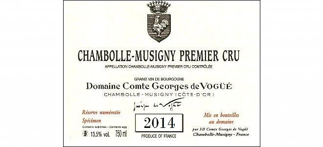Chambolle-Musigny 1er cru 2014