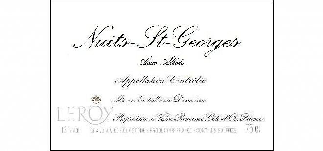 Nuits-St-Georges Allots 2013