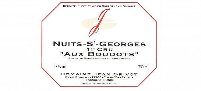 Nuits-St-Georges 1er cru Boudots 2012